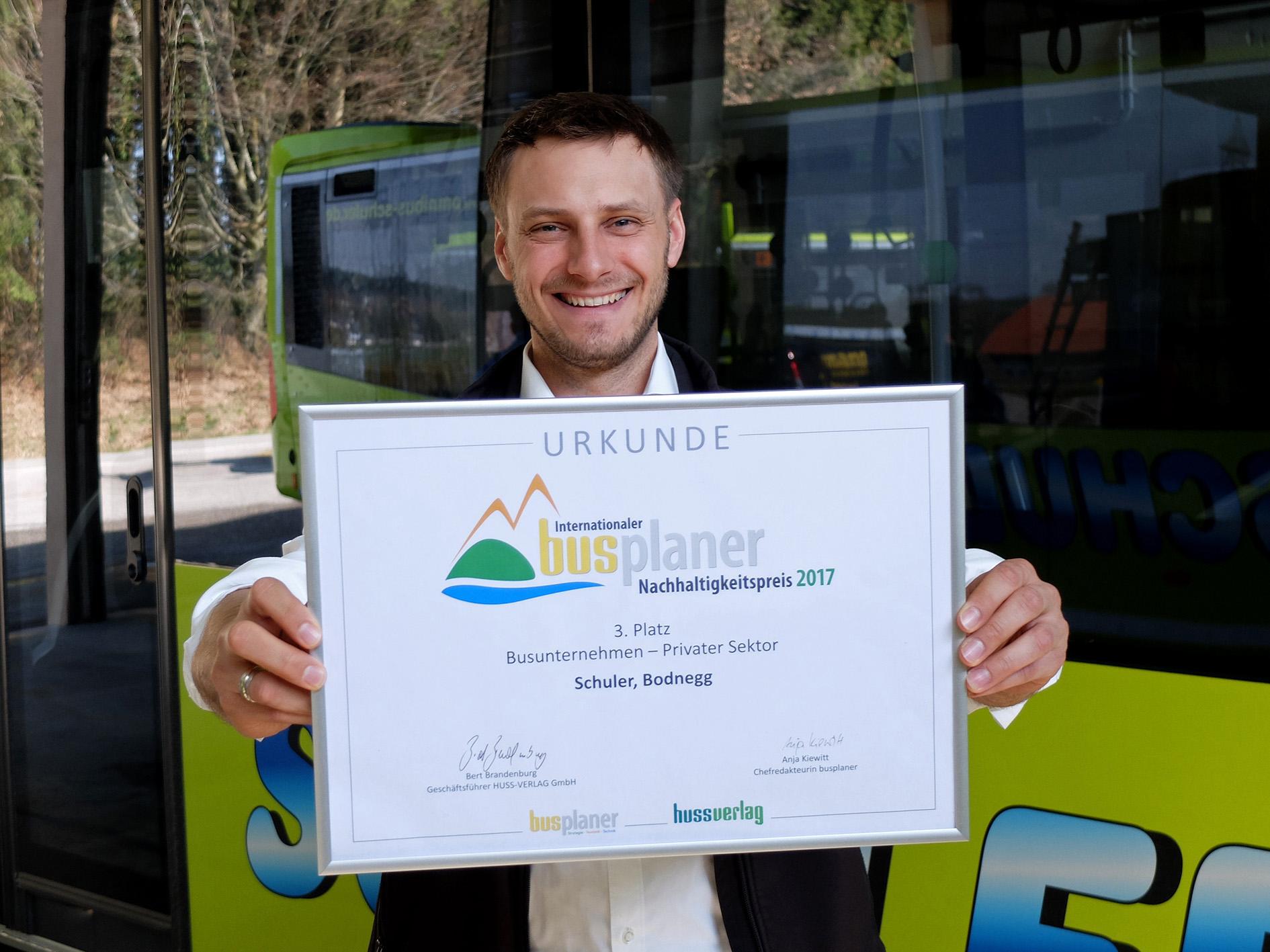 Omnibus Schuler erhält Nachhaltigkeitspreis